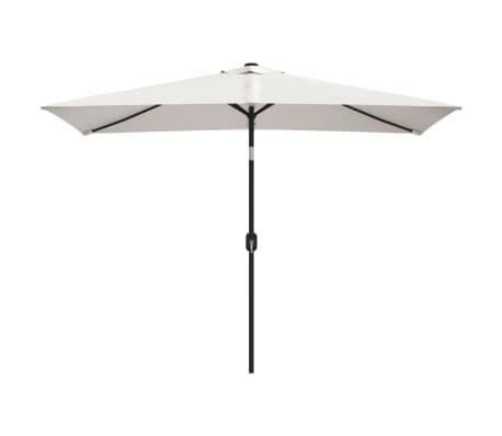 vidaXL Sombrilla rectangular blanco arena 200x300 cm