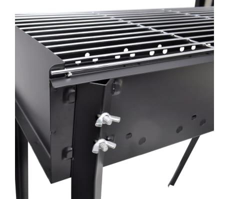 Barbecue au charbon avec 4 pieds rectangle 75 x 28 cm[4/4]