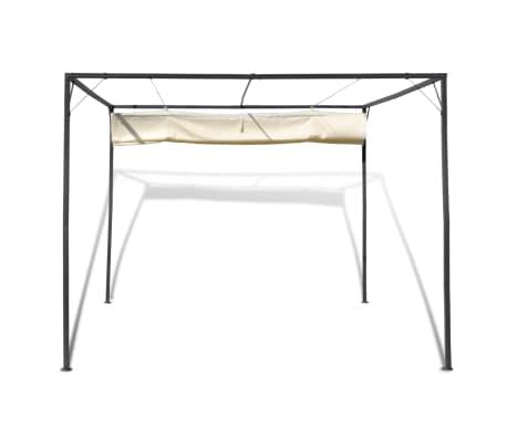 vidaXL Garden Gazebo with Retractable Roof Canopy[4/7]