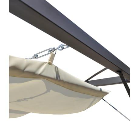 vidaXL Garden Gazebo with Retractable Roof Canopy[5/7]