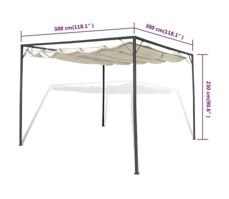 vidaxl gartenpavillon mit versenkbarem baldachin g nstig. Black Bedroom Furniture Sets. Home Design Ideas