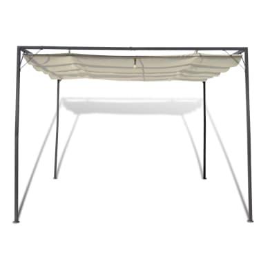 vidaXL Garden Gazebo with Retractable Roof Canopy[2/7]
