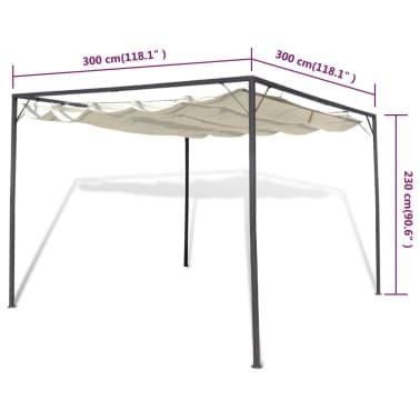 vidaXL Garden Gazebo with Retractable Roof Canopy[6/7]