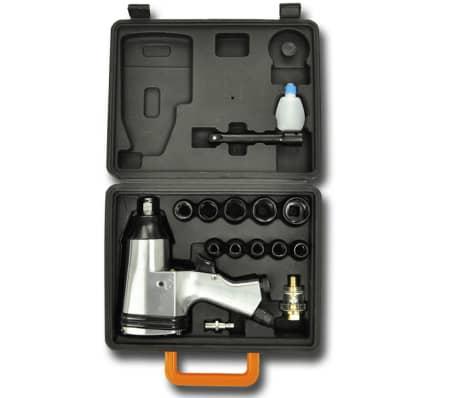 vidaXL Jeu de clé à chocs 16 pièces 1/2 po[2/5]