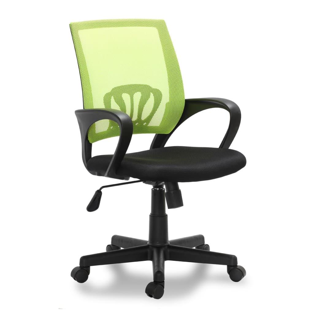 Scaun birou plastic 5 roți Verde vidaxl.ro