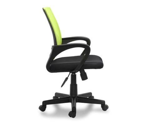 Vidaxl sedia per ufficio in plastica con 5 rotelle verde - Sedia con rotelle per ufficio ...