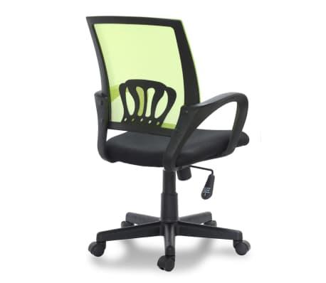 Vidaxl sedia per ufficio in plastica con 5 rotelle verde for Sedia ufficio rotelle
