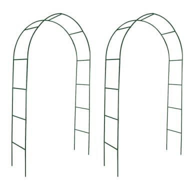 vidaXL Arche de jardin 2 pcs pour plantes grimpantes[1/4]