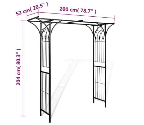 vidaXL Garden Arch 200x52x204 cm[4/4]
