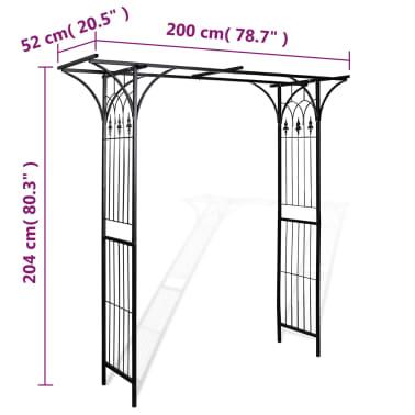 vidaXL Arche de jardin 200 x 52 x 204 cm[4/4]