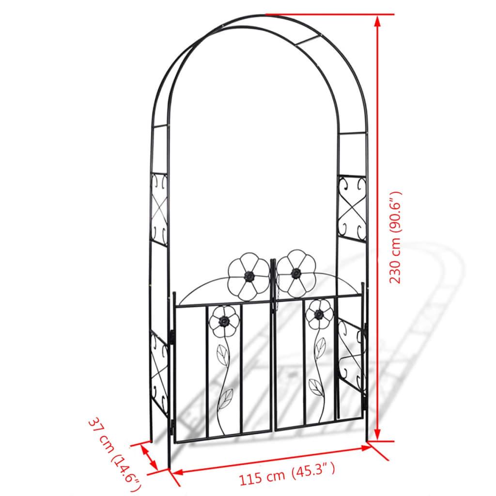 Zahradní oblouk dveře