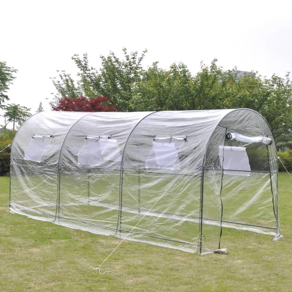 vidaXL Zahradní skleník velký průchozí přenosný fóliovník