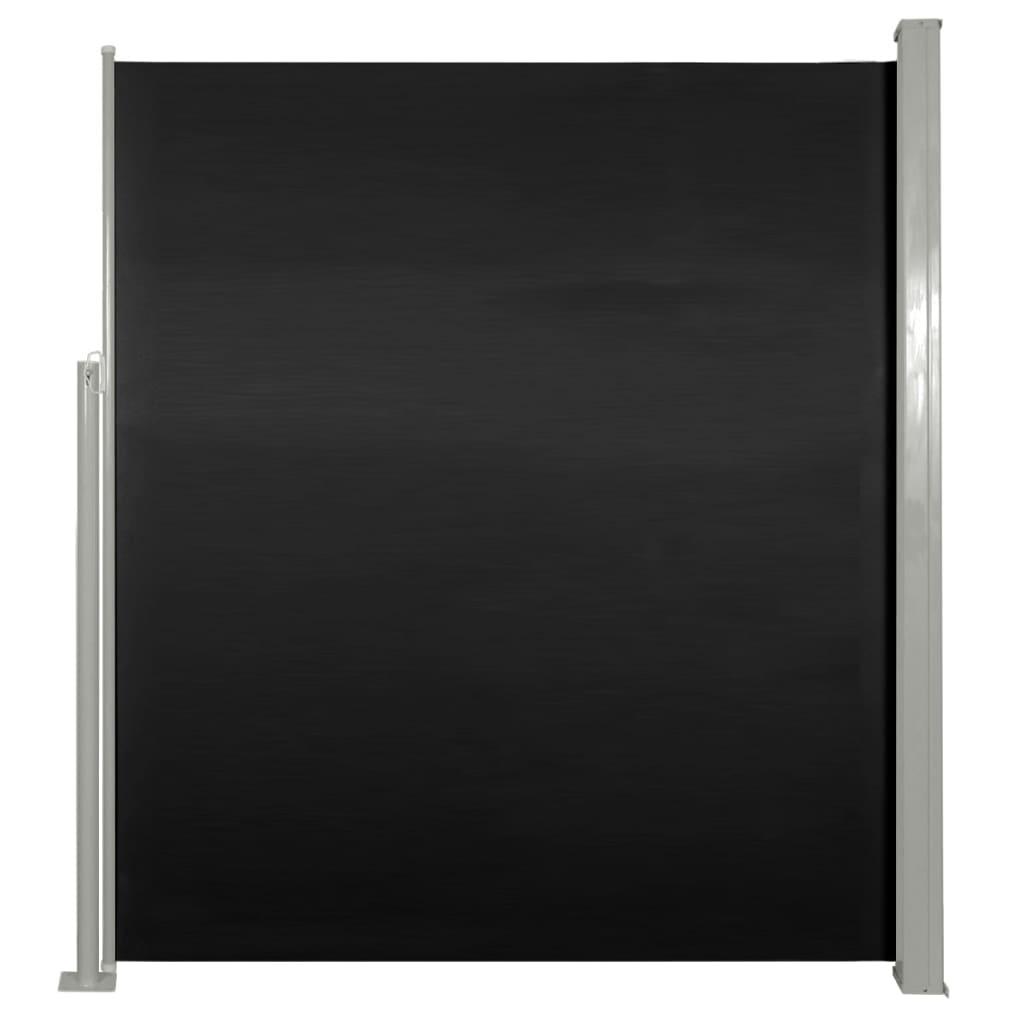 Σκίαστρο Πλαϊνό Συρόμενο Βεράντας Μαύρο 160 x 300 εκ.