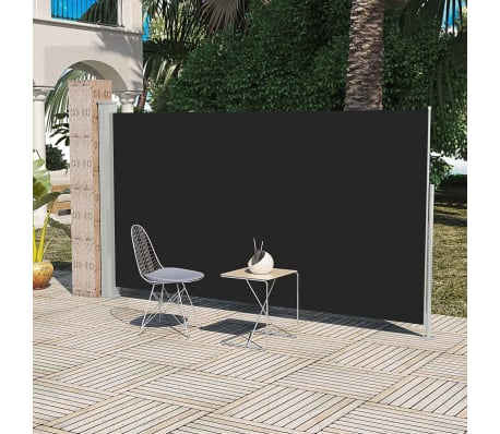Patio Terrace Side awning 180 x 300 cm Black[1/6]