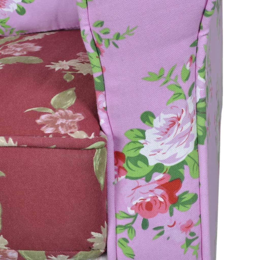 vidaXL Fauteuil met patchwork ontwerp stof