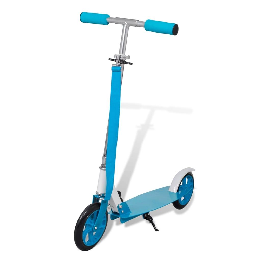 Trotinetă Scooter aluminiu pliabilă diametru roți 205 mm albastru vidaxl.ro
