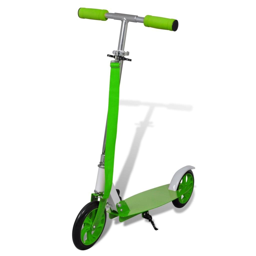 Trotinetă Scooter aluminiu pliabilă diametru roți 205 mm verde poza 2021 vidaXL