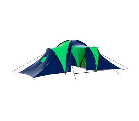 vidaXL Tent 9-persoons polyester blauw en groen