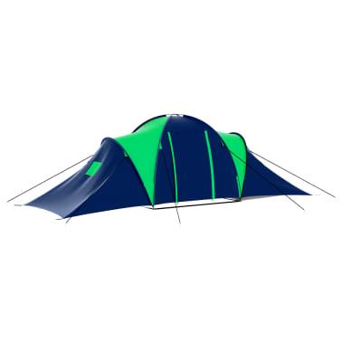 vidaXL Tienda de campaña para 9 personas tela azul y verde[2/9]