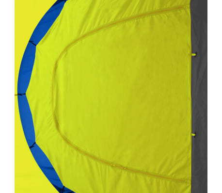 vidaXL Camping Tent Fabric 9 Persons Blue and Yellow[6/8]