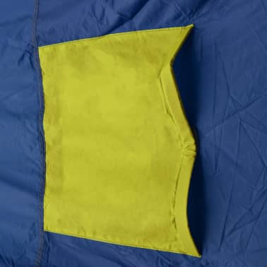 vidaXL Camping Tent Fabric 9 Persons Blue and Yellow[7/8]