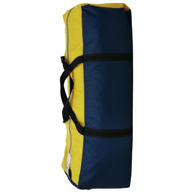 vidaXL Camping Tent Fabric 9 Persons Blue and Yellow[8/8]