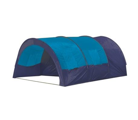 vidaXL Tält för 6 personer mörkblå och blå