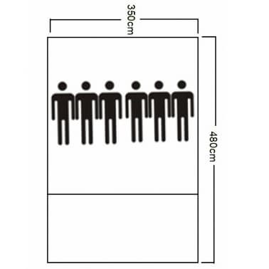 Poliéster Tienda De Campaña 6 Personas Azul-Azul Oscuro[7/7]