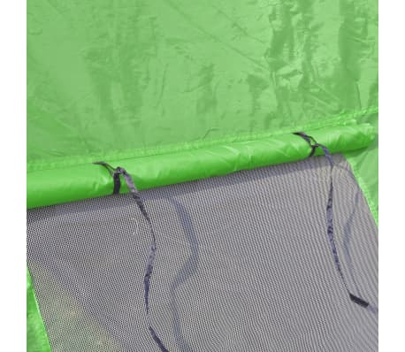vidaXL Camping Tent Fabric 6 Persons Blue and Green[6/7]