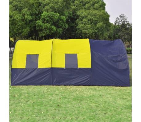 Tunnelzelt Campingzelt Familienzelt 6 Personen Gruppenzelt blau-gelb[4/7]