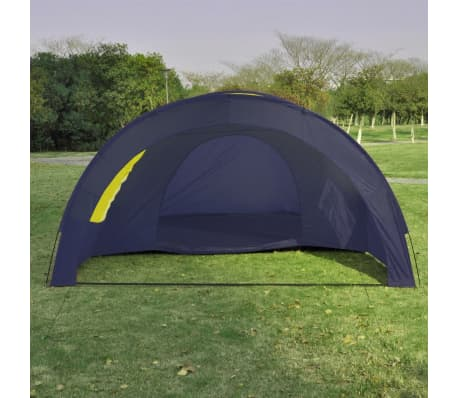 Tunnelzelt Campingzelt Familienzelt 6 Personen Gruppenzelt blau-gelb[5/7]