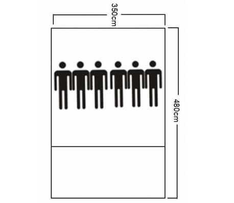Tienda De Campaña De Poliéster 6 Personas-Azul Amarillo[7/7]