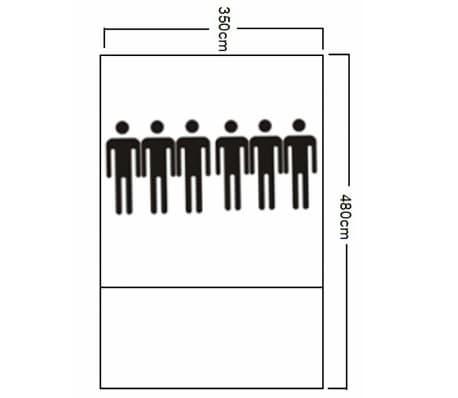 Tunnelzelt Campingzelt Familienzelt 6 Personen Gruppenzelt blau-gelb[7/7]