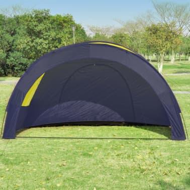 Tunnelzelt Campingzelt Familienzelt 6 Personen Gruppenzelt blau-gelb[3/7]
