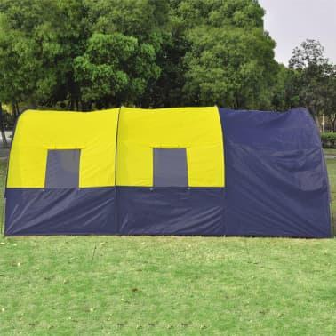 Tienda De Campaña De Poliéster 6 Personas-Azul Amarillo[4/7]