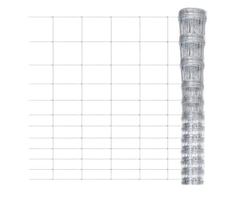 vidaXL Sodo tvora, 50m, 150cm, cinkuotas plienas