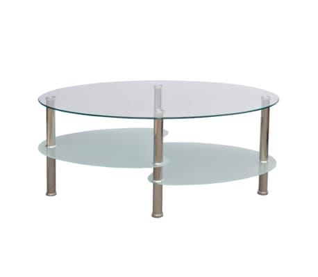 vidaXL Mesa de centro de vidrio con diseño exclusivo blanca[2/4]