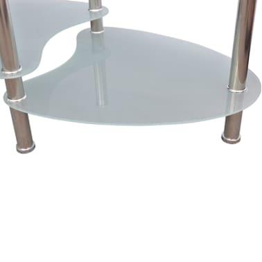 vidaXL Mesa de centro de vidrio con diseño exclusivo blanca[3/4]