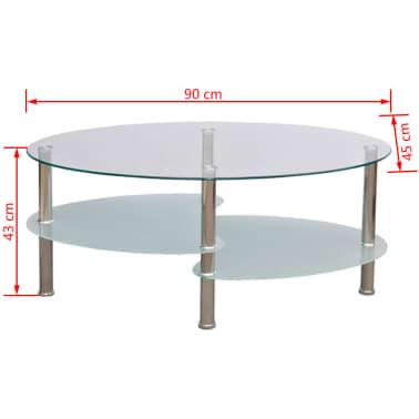 vidaXL Mesa de centro de vidrio con diseño exclusivo blanca[4/4]