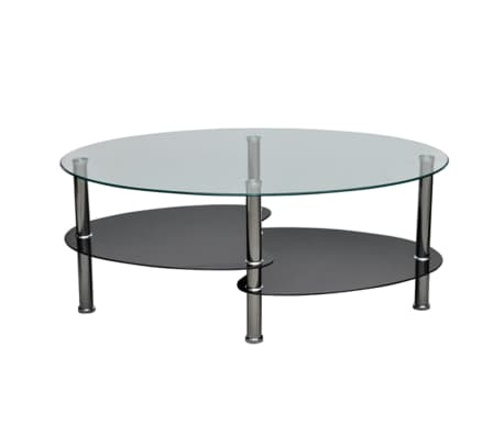 vidaXL Coffee Table with Exclusive Design Black[2/4]