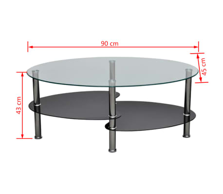 vidaXL Coffee Table with Exclusive Design Black[4/4]