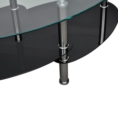 vidaXL Coffee Table with Exclusive Design Black[3/4]