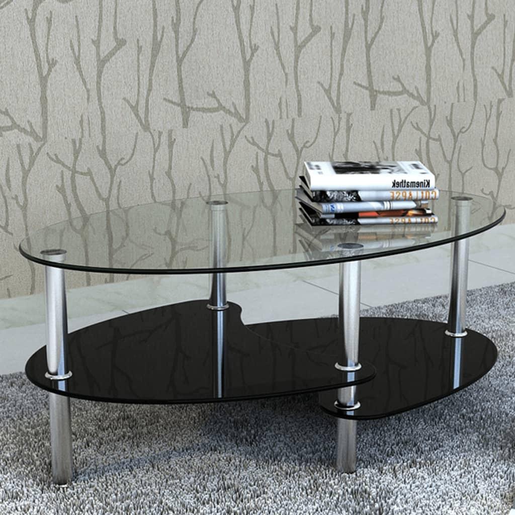 vidaXL Konferenční stolek s exkluzivním designem černý