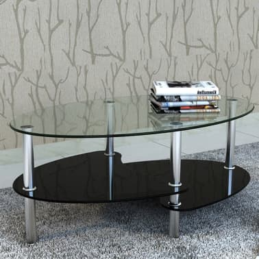 vidaXL Coffee Table with Exclusive Design Black[1/4]
