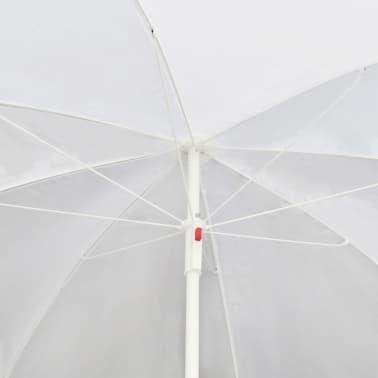 vidaXL Garden Bed with Parasol Brown Poly Rattan[7/8]