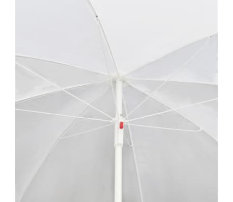 vidaXL Garden Bed with Parasol Black Poly Rattan[7/8]