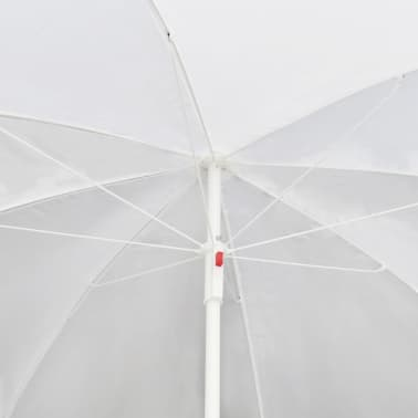 Black Garden Poly Rattan Lounge Set with Parasol Outdoor[7/8]