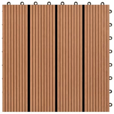 vidaXL WPC Tiles 30x30cm 11pcs 1m2 Brown[4/6]