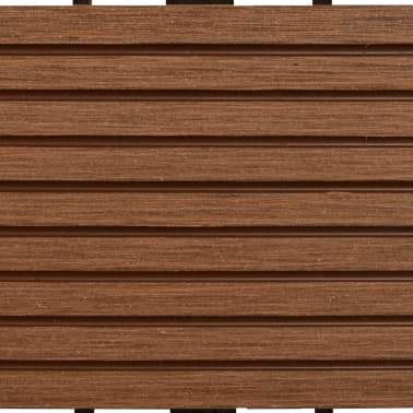 vidaXL WPC Tiles 30x30cm 11pcs 1m2 Brown[5/6]