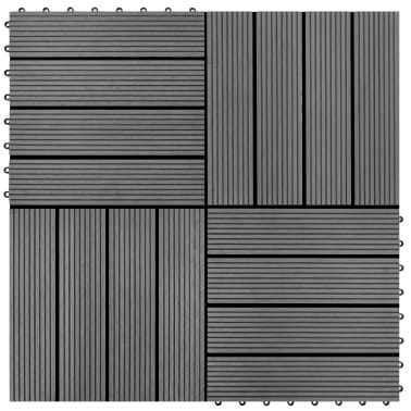 Pilkos WPC Plytelės, 30x30cm, 11 vnt., 1 m2[1/6]